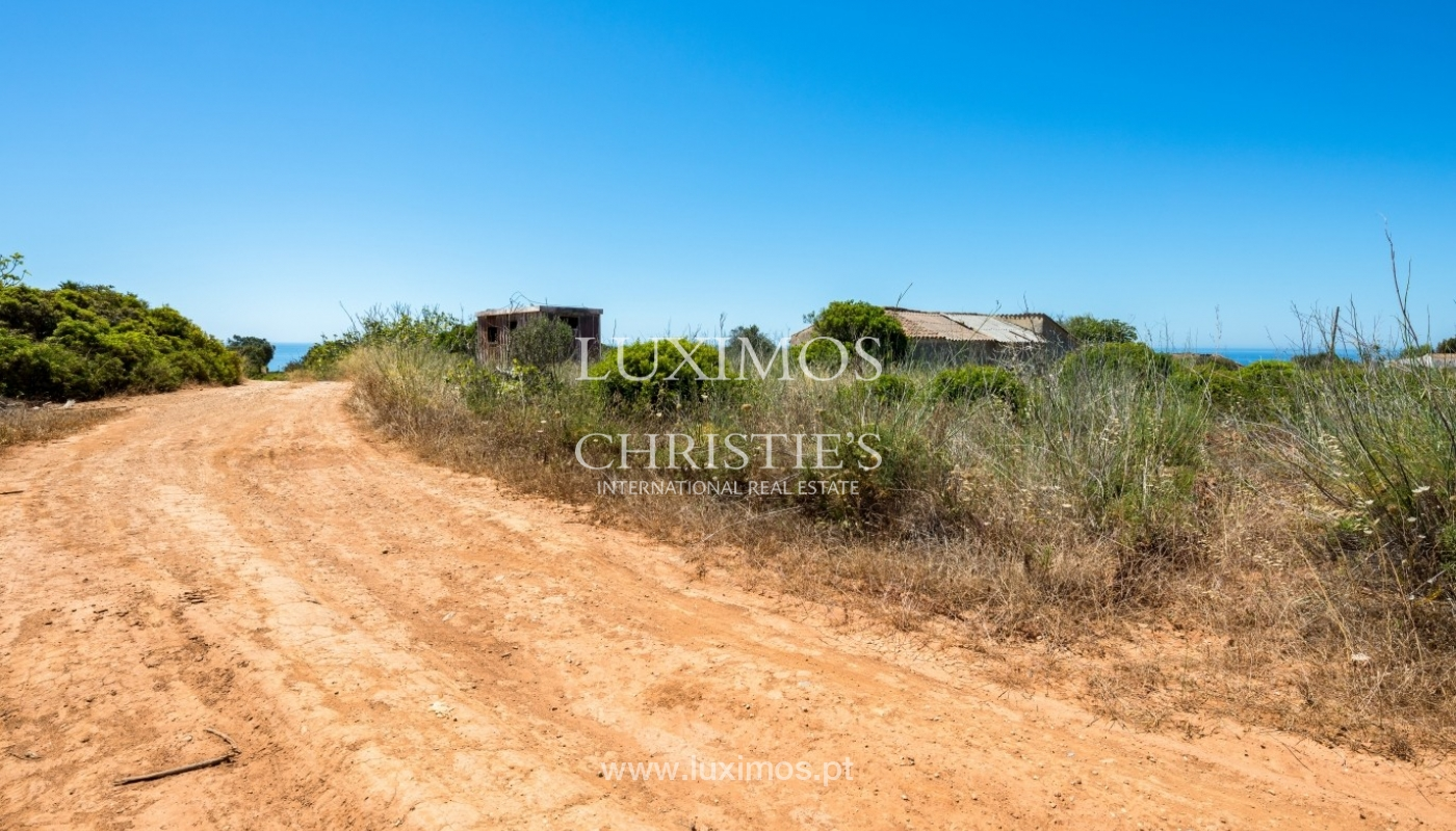Plot area for sale for house construction, sea view, Algarve, Portugal_60834