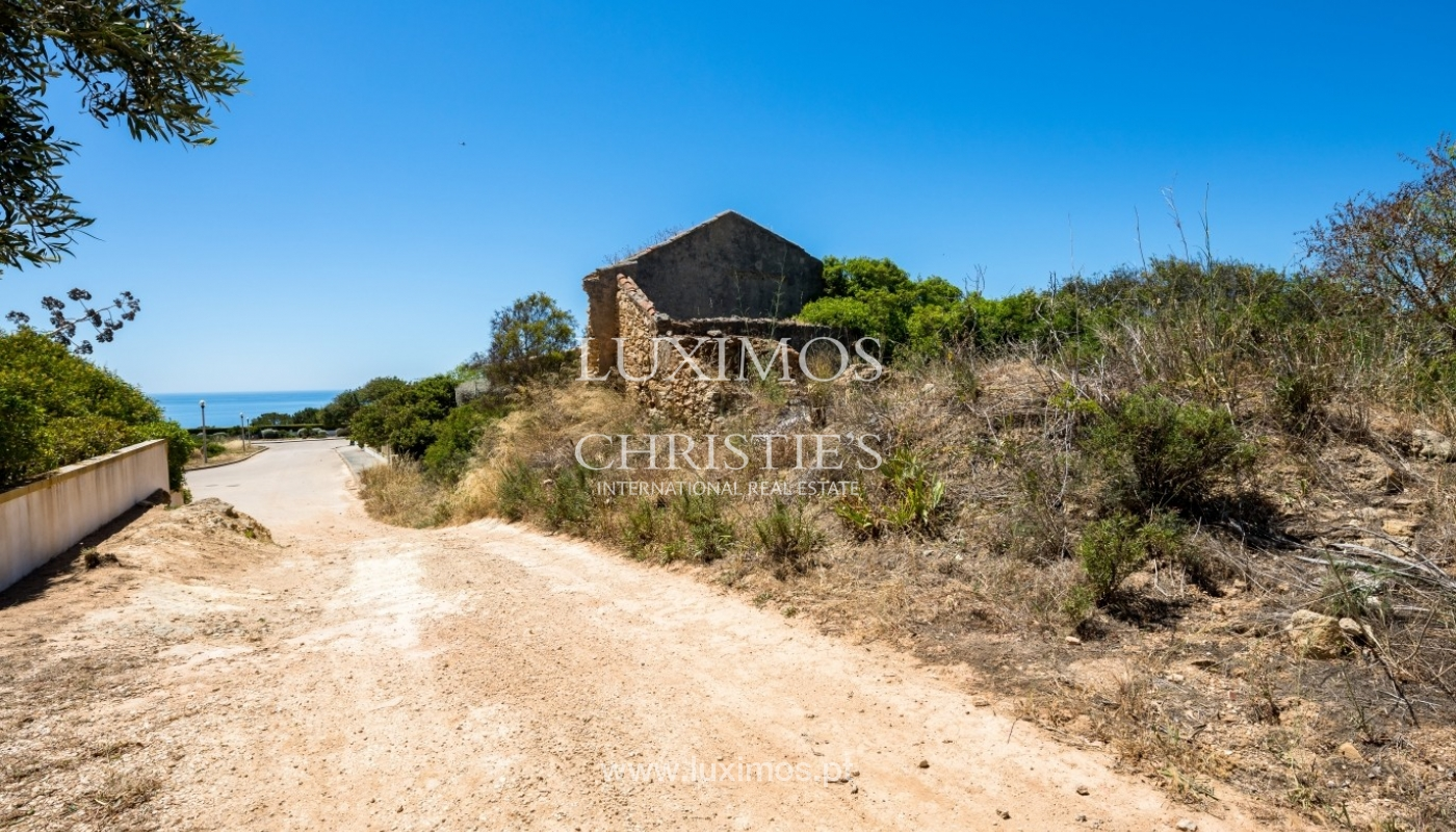 Plot area for sale for house construction, sea view, Algarve, Portugal_60836