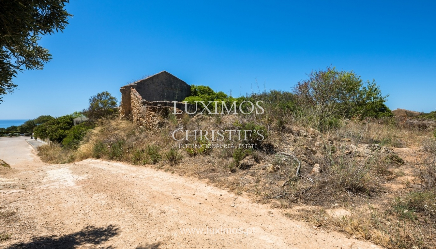 Plot area for sale for house construction, sea view, Algarve, Portugal_60844