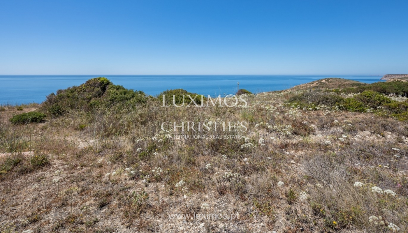 Plot area for sale for house construction, sea view, Algarve, Portugal_60855