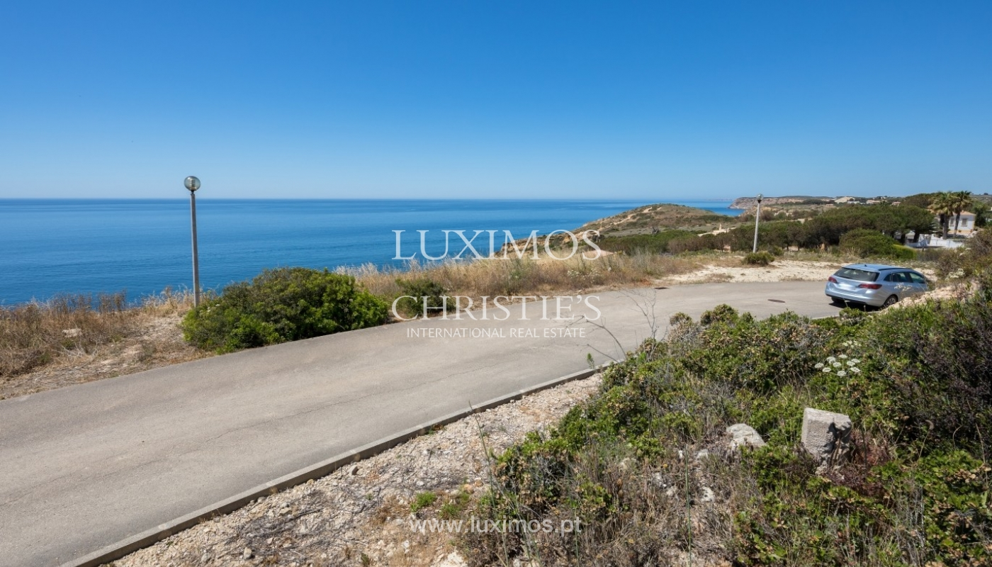 Plot area for sale for house construction, sea view, Algarve, Portugal_60858