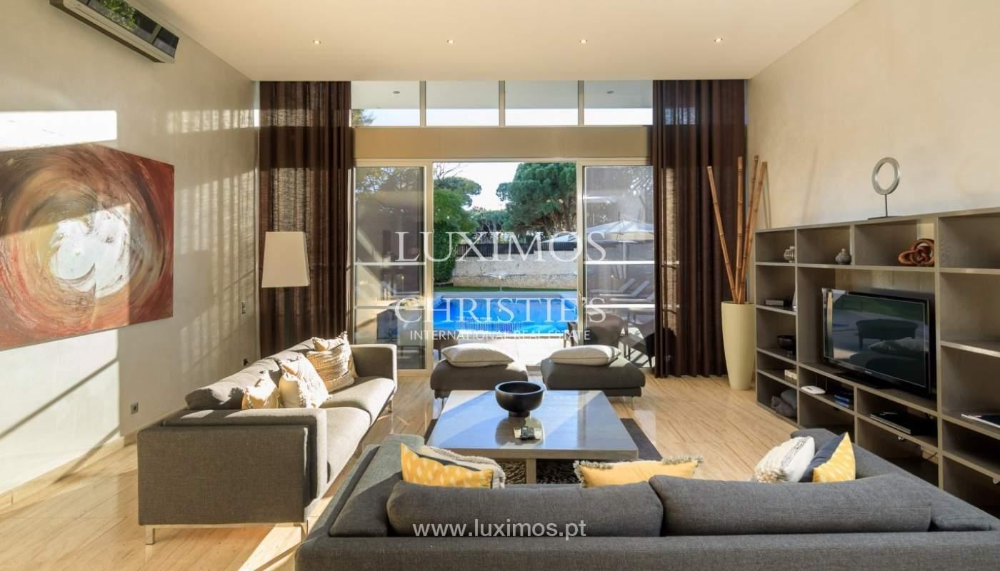 Villa en venta, piscina, vista golf y mar, Vale Lobo, Algarve,Portugal_75641