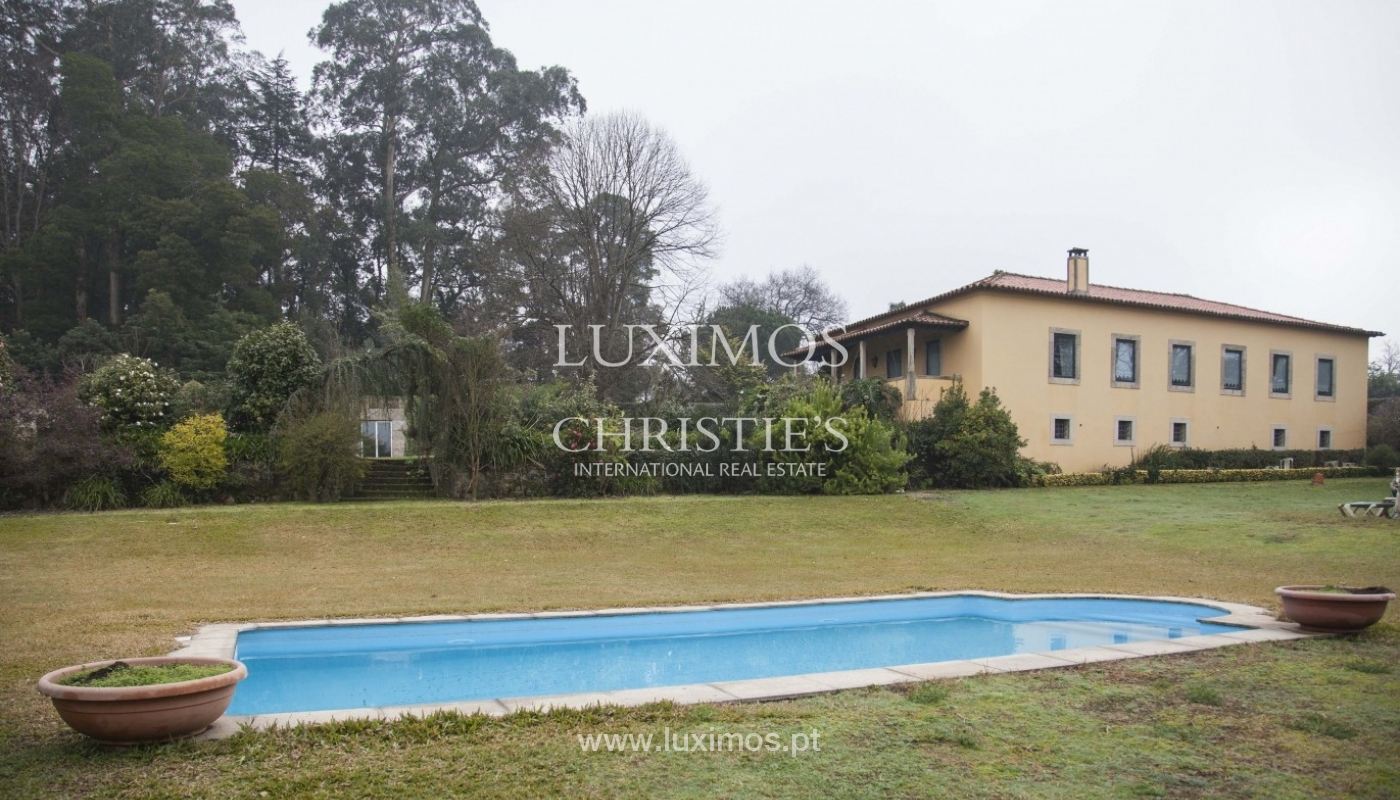 Country House with swimming pool, tennis court and plot area in Porto, Portugal_8356
