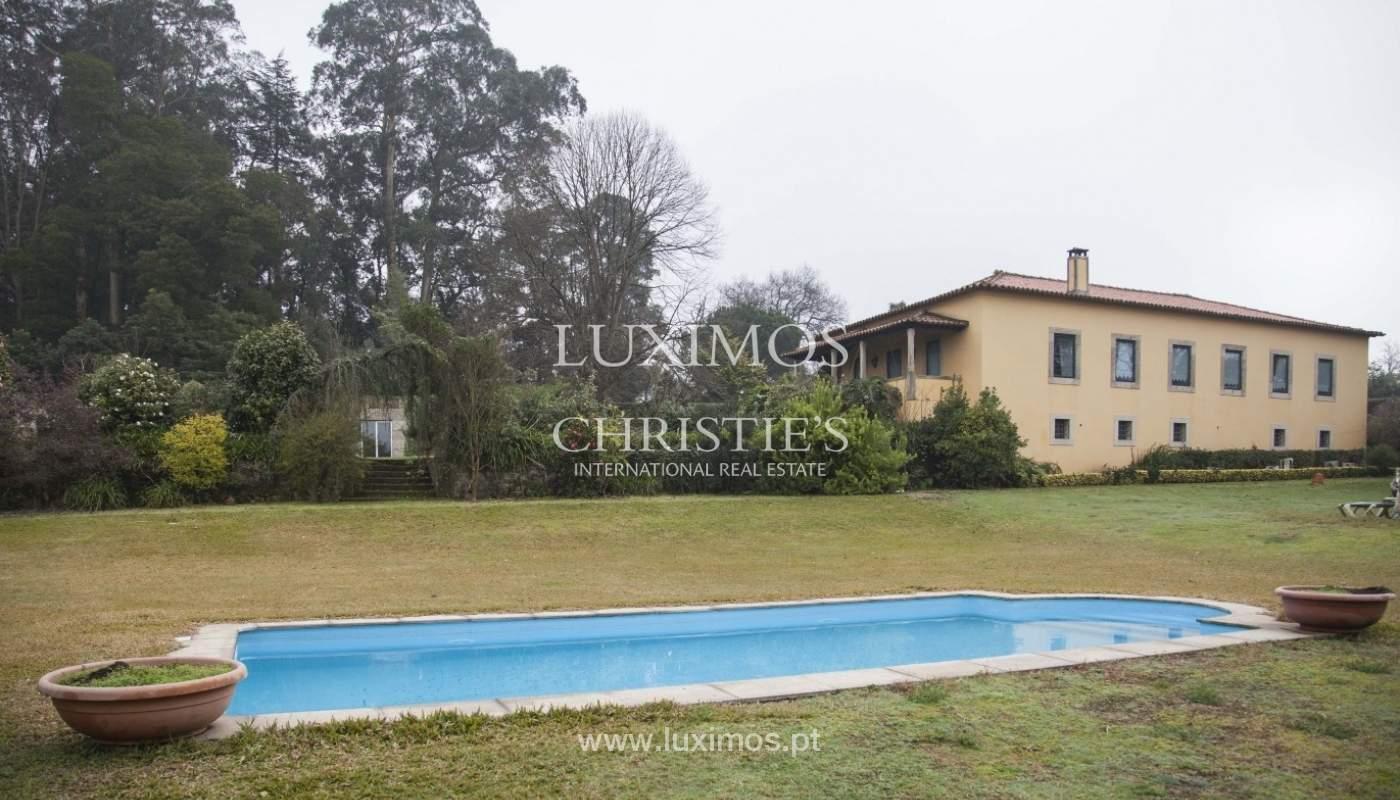 Quinta con piscina, pista de tenis y un terreno en el Muro, Porto, Portugal_8356