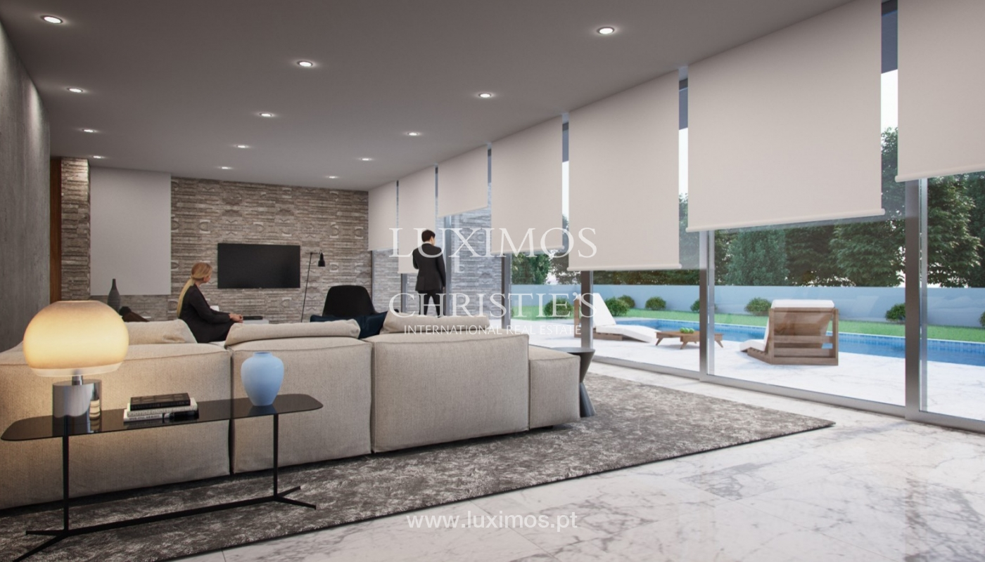 Approved project for a modern villa with sea view in Olhão, Algarve, Portugal_94943