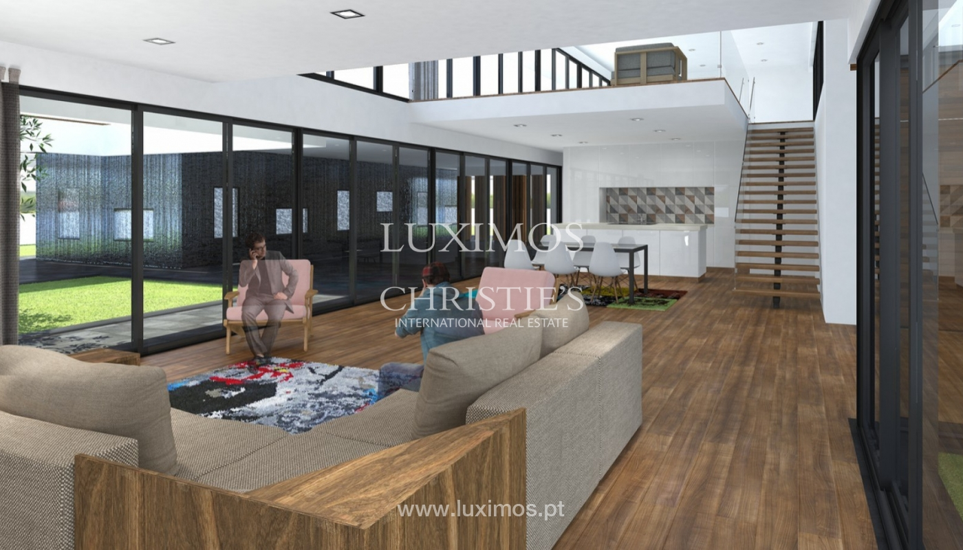 Approved project for a modern villa with sea view in Olhão, Algarve, Portugal_95380